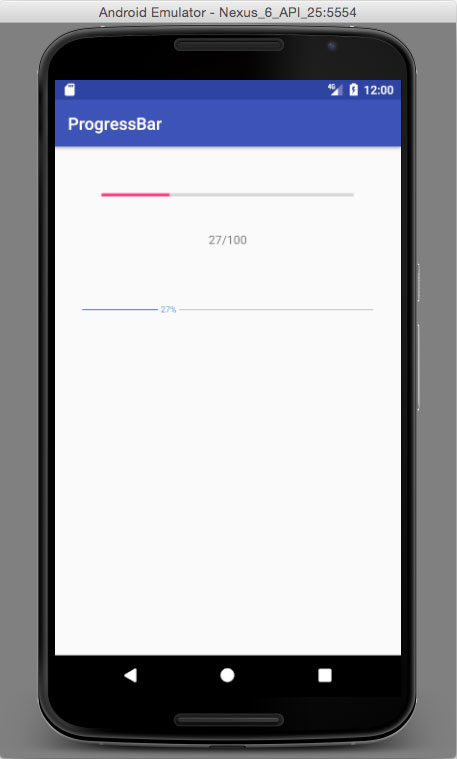 progress bars android app