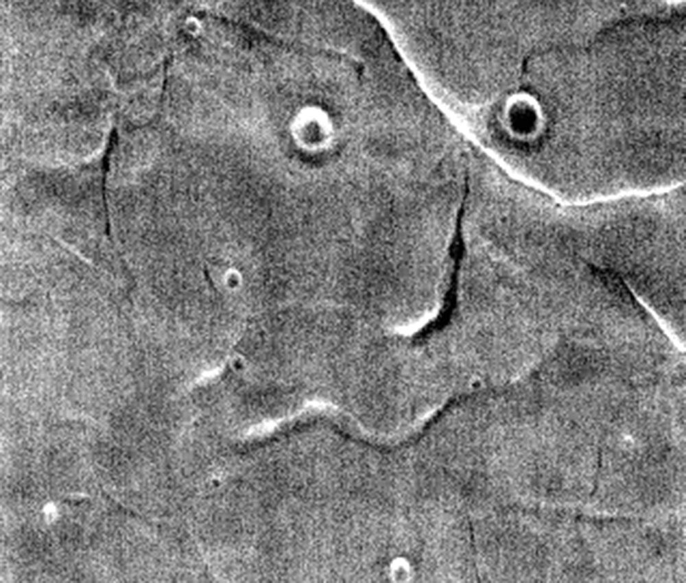 funny face on mars