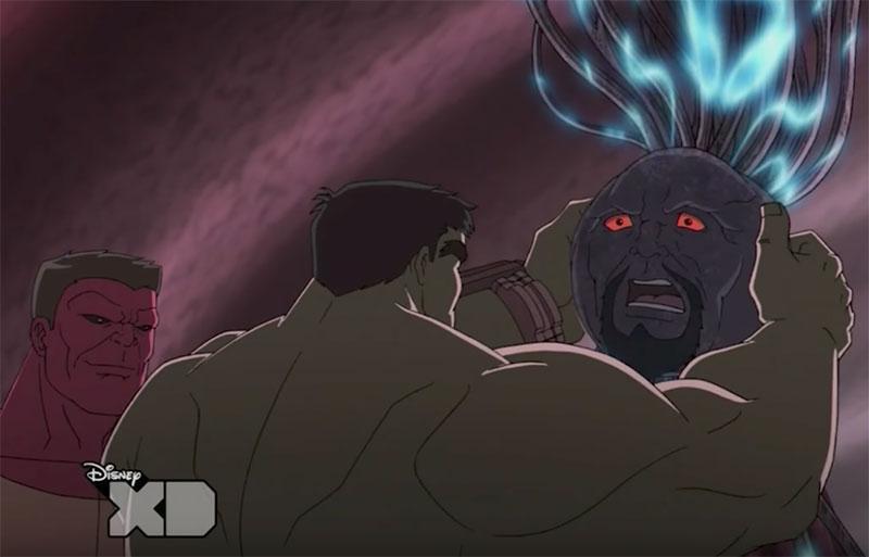 hulk harnessing ego's brain wave