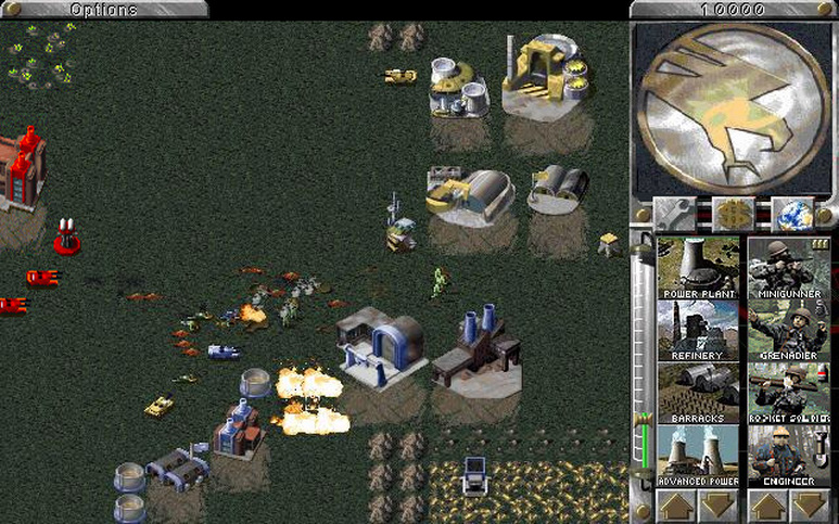 a screen shot of command and conquer