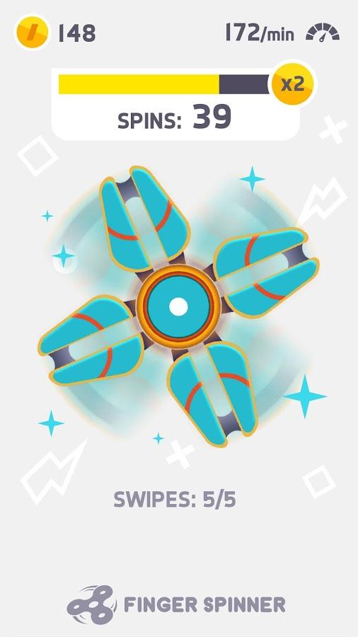 finger fidget spinner app