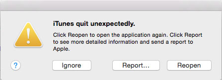 Mac OS X Application quits unexpectedly