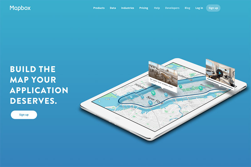 Mapbox home page