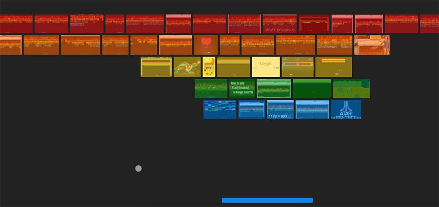 play atari breakout in google images