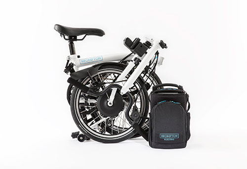 Battery powered folding bicycle by Brompton