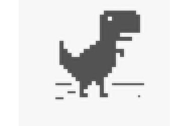 Play dinosaur jumping game in Android Chrome