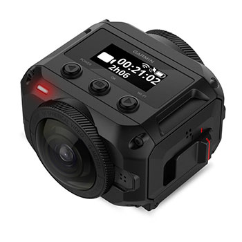 Capture pristine resolution with Garmin VIRB 360 rugged 4K action camera