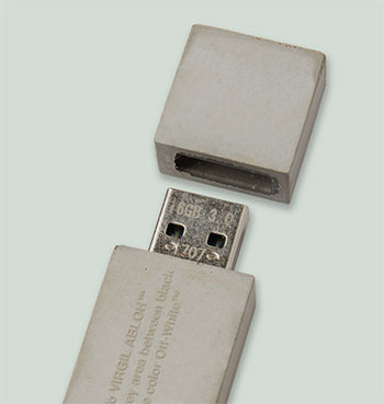 OFF-White concrete USB drive