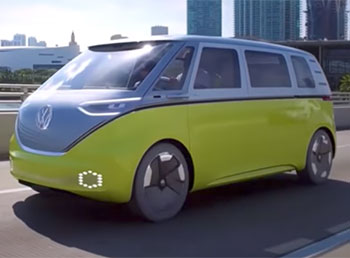I.D.Buzz the new Volkswagen retro electric microbus