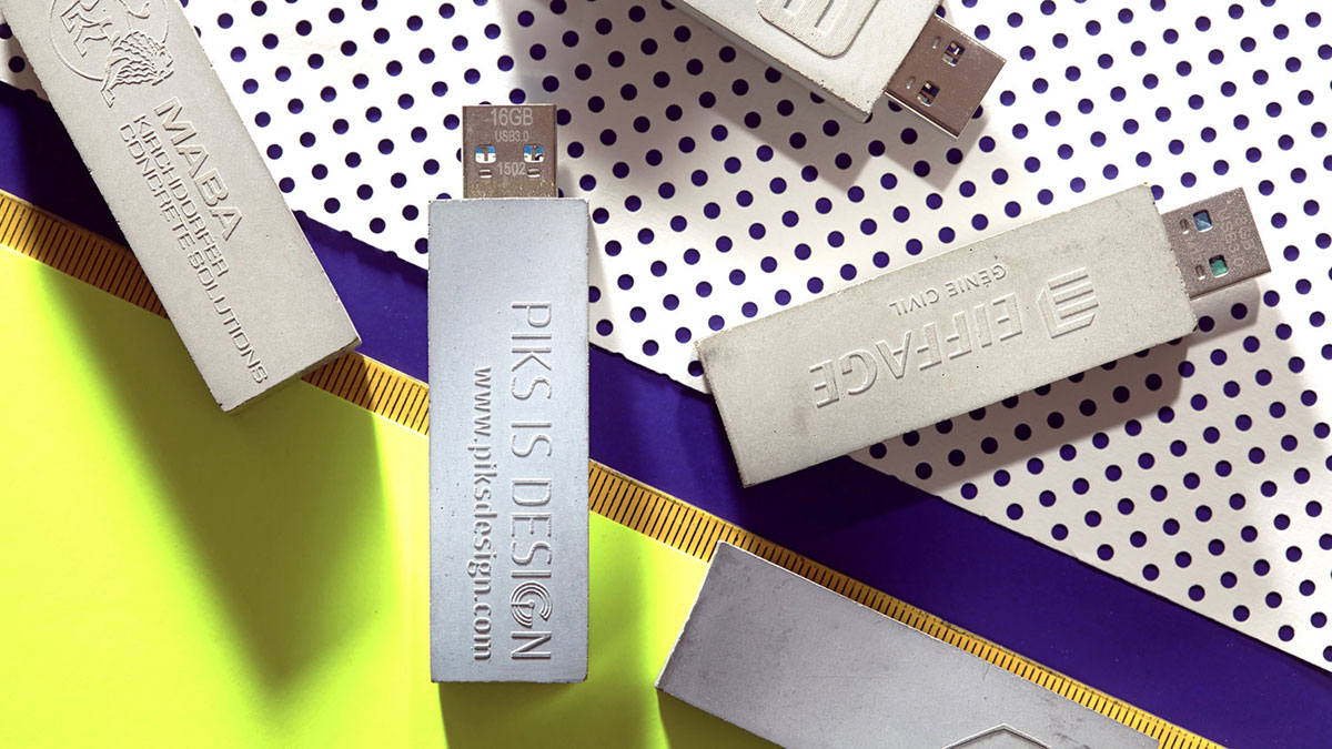 custom designs of concrete USB drive
