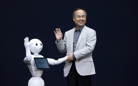 mayoshi son with pepper robot