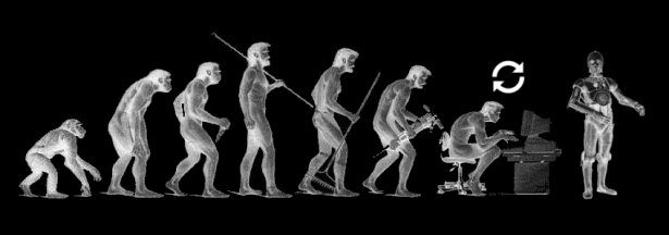 evolution of human to singularity?