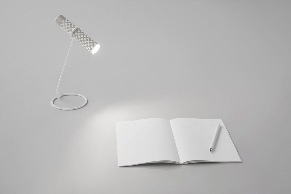 nendo torch as desk lamp