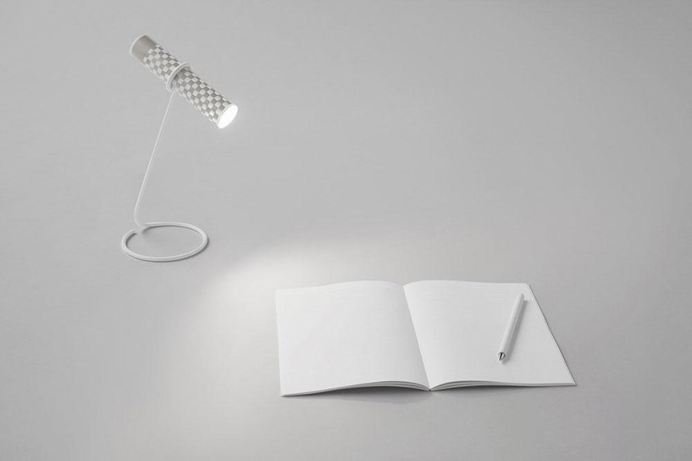 nendo torch as desk lamp