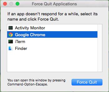 Force quit application dialog box