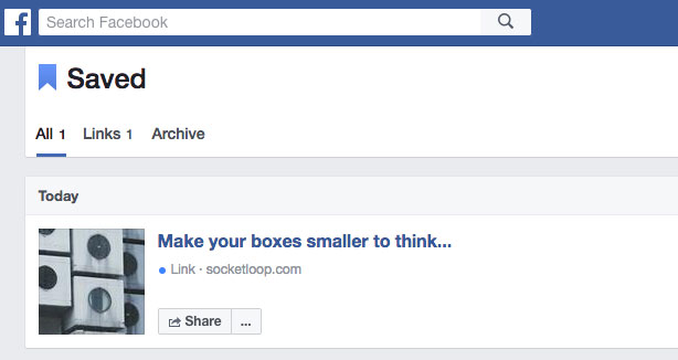 bookmarks save to Facebook