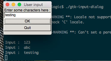 Simple input dialog box with Golang-GTK