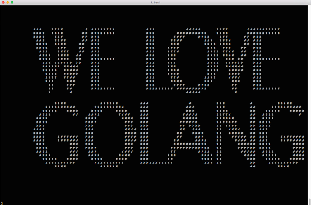 golang ASCII art image