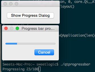 Golang Qt progressdialog box