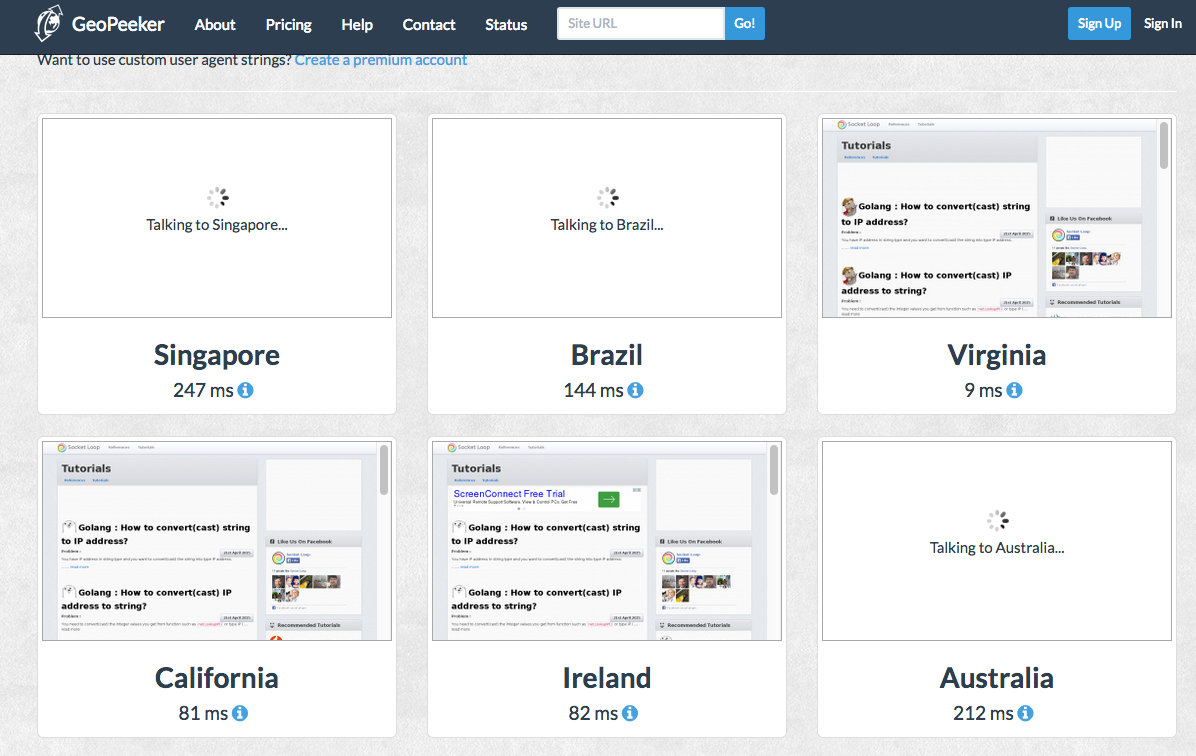Web : How to see your website from different countries?